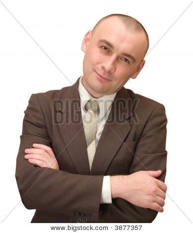 Happy Businessman In Suit