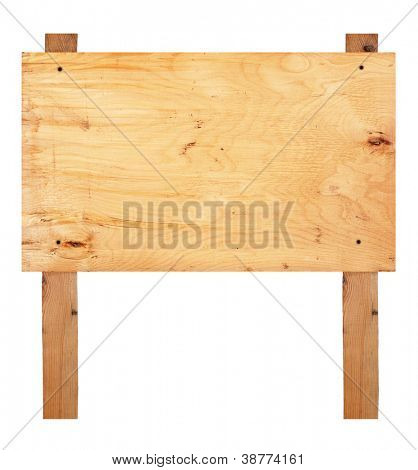 Wooden sign board