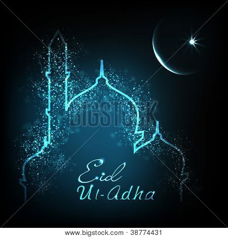 Greeting card for Eid Ul Adha festival. EPS 10.