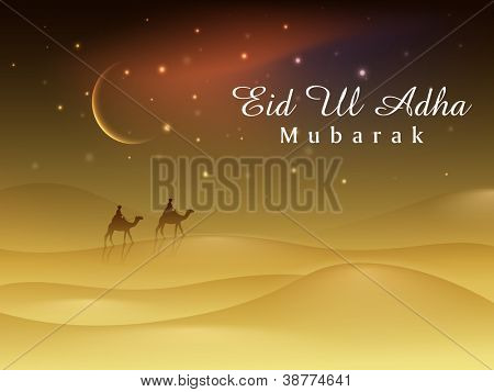 Greeting card for Eid Ul Azha background. EPS 10.