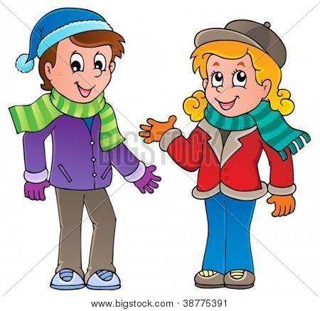 Cartoon kids theme image 1 - vector illustration.