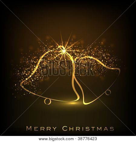 Beautiful decorative shiny jingle bell for Merry Christmas celebration. EPS 10.