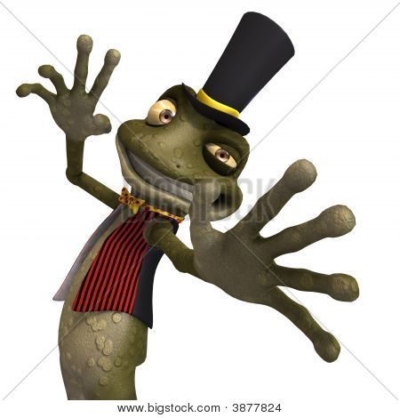 Green Cute Toon Toad Or Frog