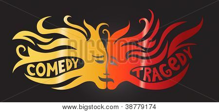Theatre concept - comedy and tragedy