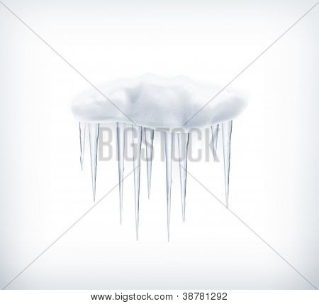 Icicles, vector icon