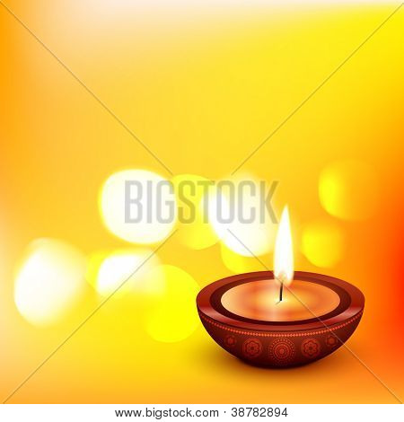 beautiful diwali vector diya illustration