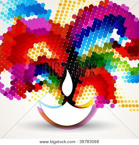 diwali feliz colorido de fundo vector bonito