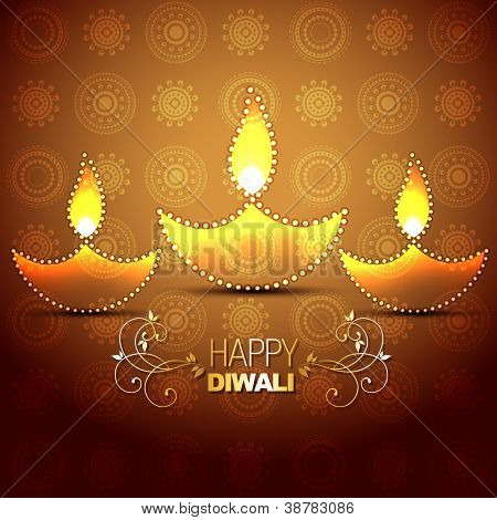 stylish vector indian festival diwali background