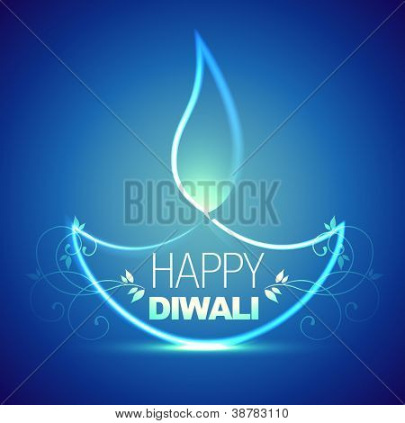 beautiful artistic diwali diya design