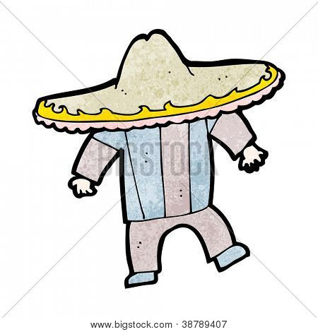 cartoon man in big mexican hat