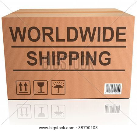worldwide shipping global and international trade web shop icon for placing online shopping order