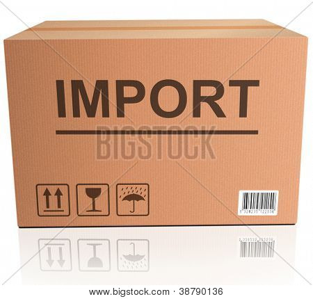 import international trade global economy importing package shipping in brown cardboard box