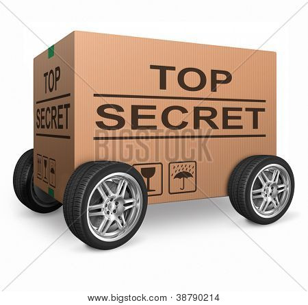 top secret confidential information or classified info big important secret