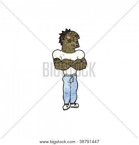 cartoon body builder guy