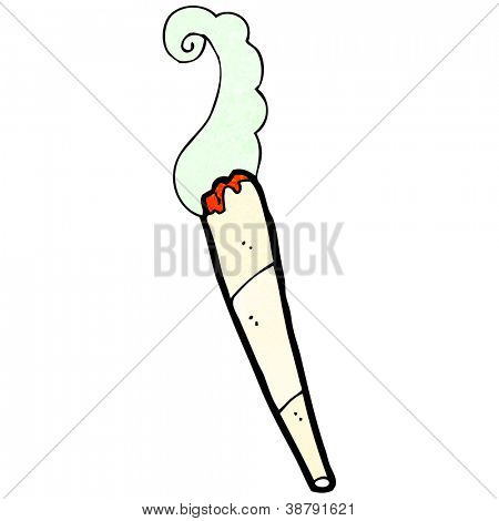 cartoon marijuana joint