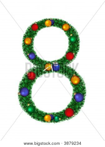 Numeral From Christmas Decoration - 8