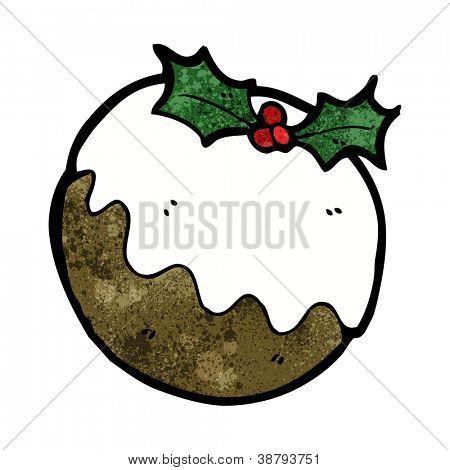 christmas pudding cartoon