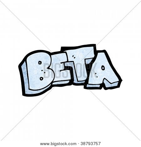 beta cartoon sign