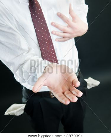 Businessman Asking For Money