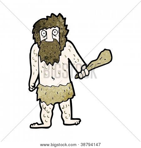 cartoon cave man with club