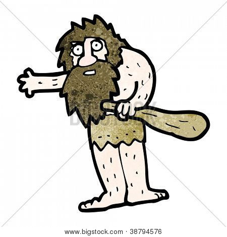 cartoon cave man