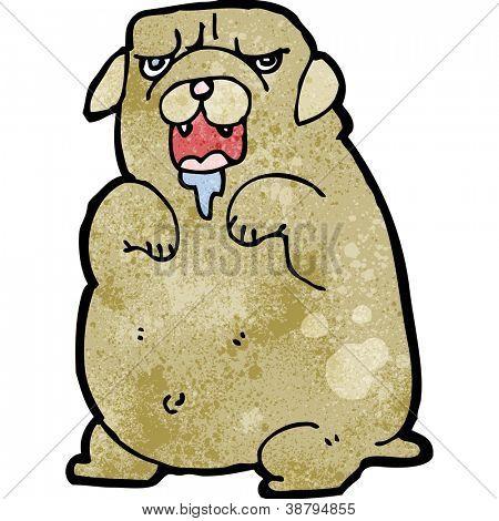 cartoon drooling dog