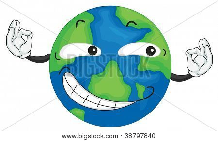 illustration of planet earth on a white background