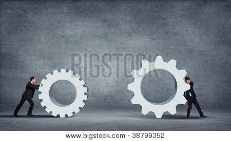 Idea creativa de la innovación empresarial para usted sobre fondo gris