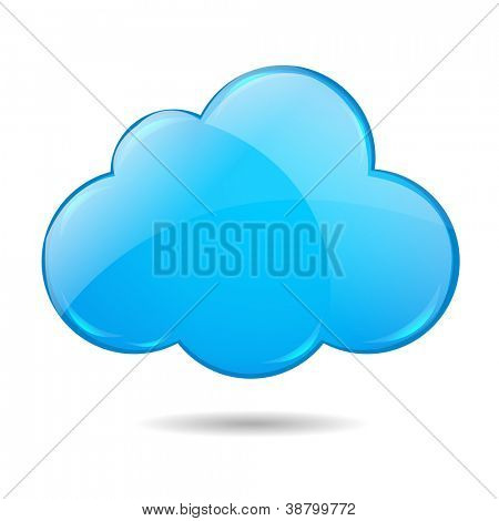 Wolke, Isolated On White Background mit Verlaufsgitter, Vektor-Illustration