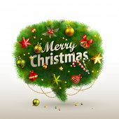 stock photo of illustration  - Christmas Bubble for speech  - JPG