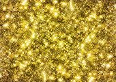 image of gold-dust  - Gold glittering background - JPG