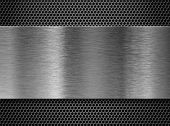 foto of grating  - metal plate over comb grate - JPG