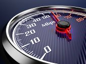 stock photo of chronometer  - Speed of  internet connection - JPG