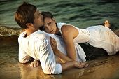 stock photo of intimacy  - Intimacy on the beach - JPG