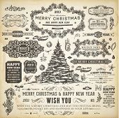 stock photo of invitation  - Christmas decoration collection  - JPG