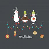 foto of snowman  - Greeting card - JPG