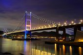 picture of tsing ma bridge  - Tsing Ma Bridge at Hong kong - JPG