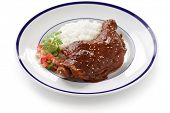 picture of mole  - chicken with mole poblano sauce - JPG