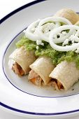 image of enchiladas  - chicken enchiladas verde - JPG