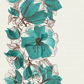 picture of lily  - Flower seamless pattern vector - JPG