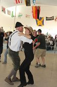TULSA, OK - OCT 20: Oktoberfest goers enjoy dancing at Oktoberfest in TULSA, OK, on October 20, 2012
