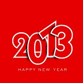 image of happy new year 2013  - Stylized 2013 Happy New Year background - JPG
