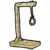 picture of gallows  - cartoon gallows - JPG