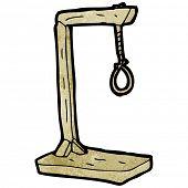 stock photo of gallows  - cartoon gallows - JPG