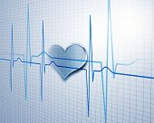 picture of ecg chart  - A medical background with a heart beat  - JPG