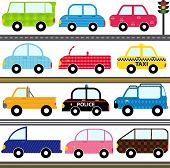stock photo of four-wheel  - A set of cute Vector Icons  - JPG