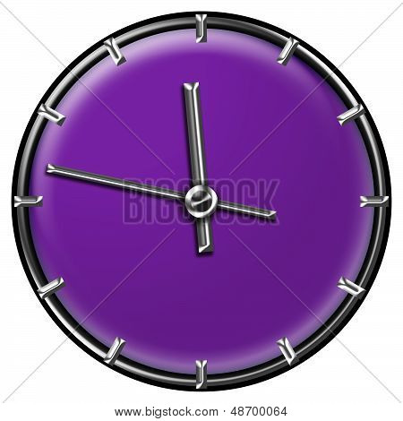 Modern Clock Design In Purple