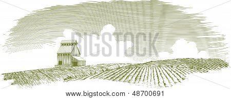 Vintage Grain Elevator Landscape_original