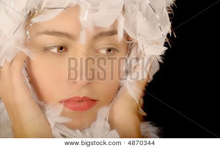 Woman In Feathers