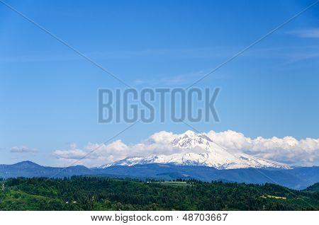 Cloudy Mount Hood